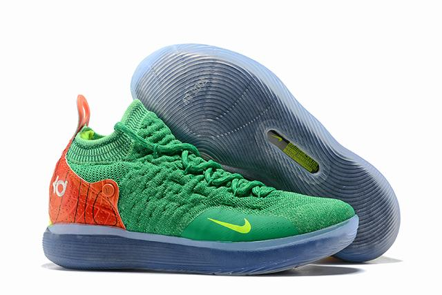 Nike KD 11 Shoes Grass Green Orange